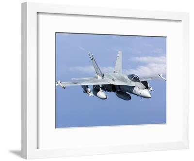 A CF-188A Hornet of the Royal Canadian Air Force-Stocktrek Images-Framed Photographic Print