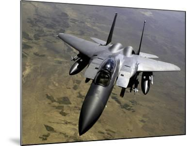 An F-15E Strike Eagle Aircraft in Flight Over Afghanistan-Stocktrek Images-Mounted Photographic Print