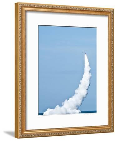 An Unarmed Trident II D5 Missile Launches from USS Nevada-Stocktrek Images-Framed Photographic Print