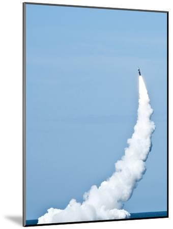 An Unarmed Trident II D5 Missile Launches from USS Nevada-Stocktrek Images-Mounted Photographic Print