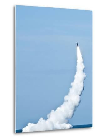 An Unarmed Trident II D5 Missile Launches from USS Nevada-Stocktrek Images-Metal Print