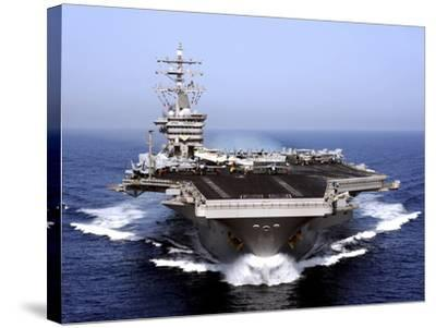 The Aircraft Carrier USS Dwight D. Eisenhower Transits the Arabian Sea-Stocktrek Images-Stretched Canvas Print