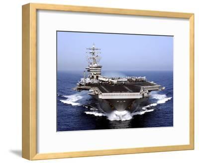 The Aircraft Carrier USS Dwight D. Eisenhower Transits the Arabian Sea-Stocktrek Images-Framed Photographic Print