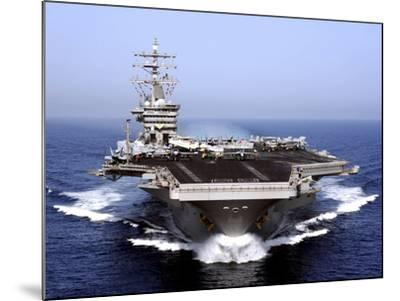 The Aircraft Carrier USS Dwight D. Eisenhower Transits the Arabian Sea-Stocktrek Images-Mounted Photographic Print