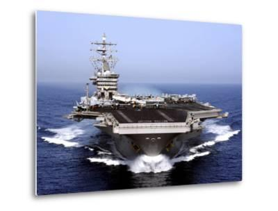 The Aircraft Carrier USS Dwight D. Eisenhower Transits the Arabian Sea-Stocktrek Images-Metal Print