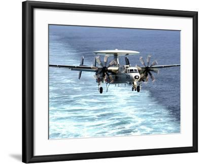 An E-2C Hawkeye Prepares For An Arrested Landing-Stocktrek Images-Framed Photographic Print