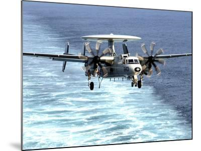An E-2C Hawkeye Prepares For An Arrested Landing-Stocktrek Images-Mounted Photographic Print