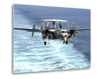 An E-2C Hawkeye Prepares For An Arrested Landing-Stocktrek Images-Metal Print