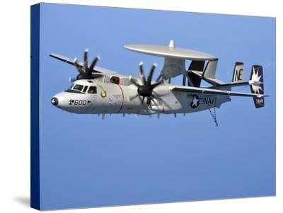 An E-2C Hawkeye in Flight Over the Arabian Sea-Stocktrek Images-Stretched Canvas Print