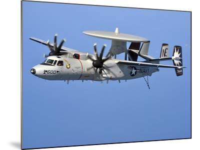 An E-2C Hawkeye in Flight Over the Arabian Sea-Stocktrek Images-Mounted Photographic Print
