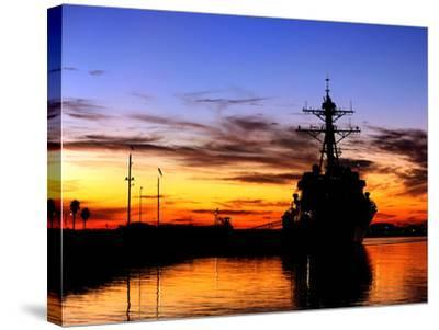 USS Spruance Is Pierside at Naval Weapons Station Seal Beach, California-Stocktrek Images-Stretched Canvas Print