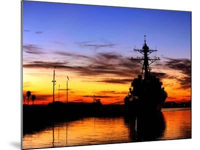 USS Spruance Is Pierside at Naval Weapons Station Seal Beach, California-Stocktrek Images-Mounted Photographic Print