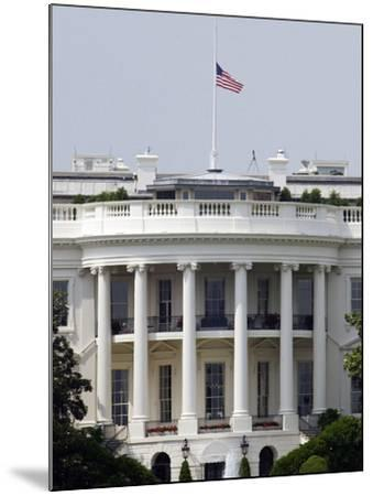 The American Flag Flies at Half-staff Atop the White House-Stocktrek Images-Mounted Photographic Print