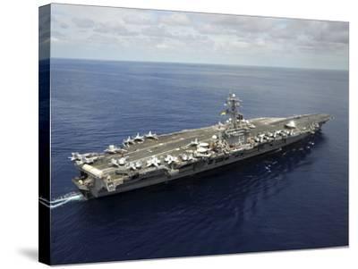 Nimitz-class Aircraft Carrier USS Dwight D. Eisenhower-Stocktrek Images-Stretched Canvas Print