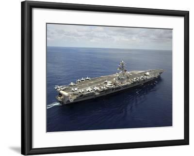 Nimitz-class Aircraft Carrier USS Dwight D. Eisenhower-Stocktrek Images-Framed Photographic Print