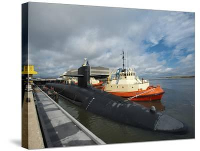 Ballistic Missile Submarine USS Tennessee at Naval Submarine Base Kings Bay-Stocktrek Images-Stretched Canvas Print