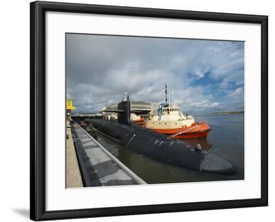 Ballistic Missile Submarine USS Tennessee at Naval Submarine Base Kings Bay-Stocktrek Images-Framed Photographic Print