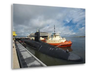 Ballistic Missile Submarine USS Tennessee at Naval Submarine Base Kings Bay-Stocktrek Images-Metal Print