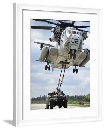 U.S. Marines Conduct a Sling Load Operation with a CH-53E Super Stallion-Stocktrek Images-Framed Photographic Print