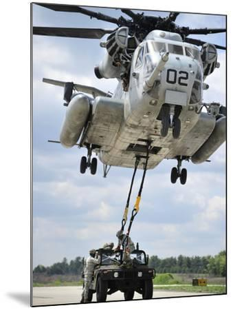 U.S. Marines Conduct a Sling Load Operation with a CH-53E Super Stallion-Stocktrek Images-Mounted Photographic Print
