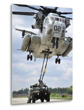 U.S. Marines Conduct a Sling Load Operation with a CH-53E Super Stallion-Stocktrek Images-Metal Print