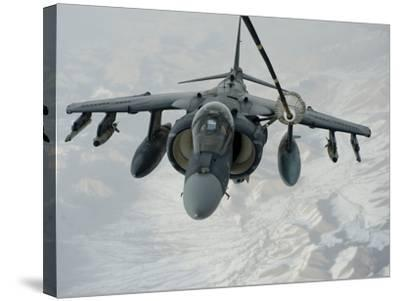 An A/V-8B Harrier Receives Fuel Over Afghanistan from a KC-10 Extender-Stocktrek Images-Stretched Canvas Print