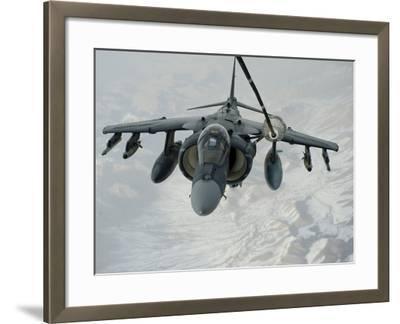 An A/V-8B Harrier Receives Fuel Over Afghanistan from a KC-10 Extender-Stocktrek Images-Framed Photographic Print