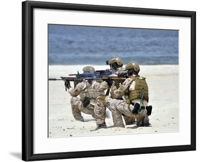 Navy SEALs Participate in a Capabilities Exercise-Stocktrek Images-Framed Photographic Print