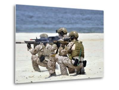 Navy SEALs Participate in a Capabilities Exercise-Stocktrek Images-Metal Print