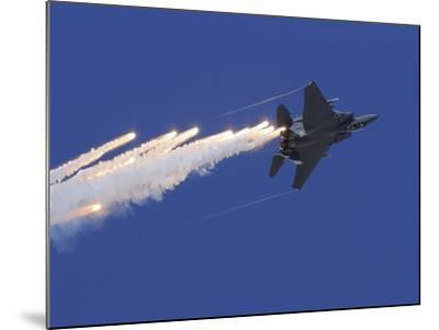 An F-15E Strike Eagle Releases Flares-Stocktrek Images-Mounted Photographic Print