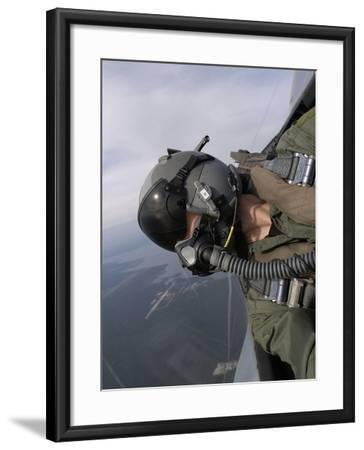 Cockpit View of a Pilot Flying An F-15 Eagle-Stocktrek Images-Framed Photographic Print
