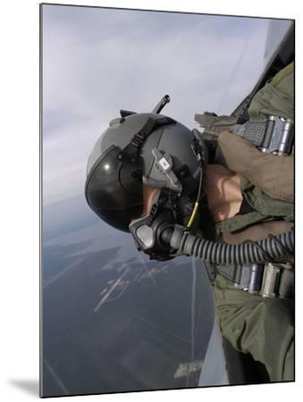 Cockpit View of a Pilot Flying An F-15 Eagle-Stocktrek Images-Mounted Photographic Print
