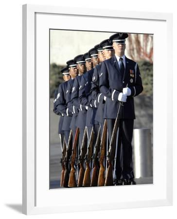 United States Air Force Honor Guard Members-Stocktrek Images-Framed Photographic Print
