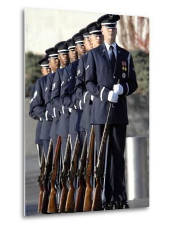 United States Air Force Honor Guard Members-Stocktrek Images-Metal Print