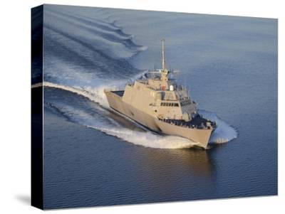 The Littoral Combat Ship Pre-Commissioning Unit Fort Worth-Stocktrek Images-Stretched Canvas Print