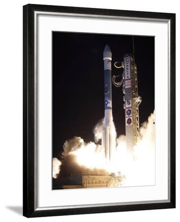 A United Launch Alliance Delta II Rocket Lifts Off from Its Launch Complex-Stocktrek Images-Framed Photographic Print