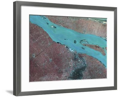 Satellite View of Shanghai, China-Stocktrek Images-Framed Photographic Print