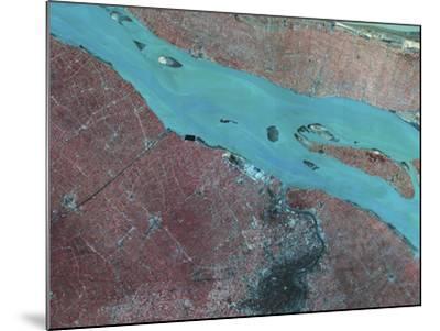 Satellite View of Shanghai, China-Stocktrek Images-Mounted Photographic Print