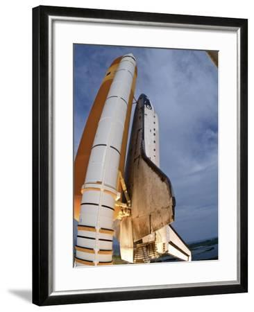 Space Shuttle Endeavour Lifts Off from Kennedy Space Center-Stocktrek Images-Framed Photographic Print