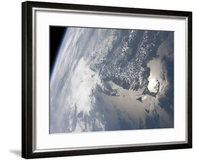Sunglint On the Waters of Earth-Stocktrek Images-Framed Photographic Print