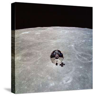 The Apollo 10 Command And Service Modules in Lunar Orbit-Stocktrek Images-Stretched Canvas Print