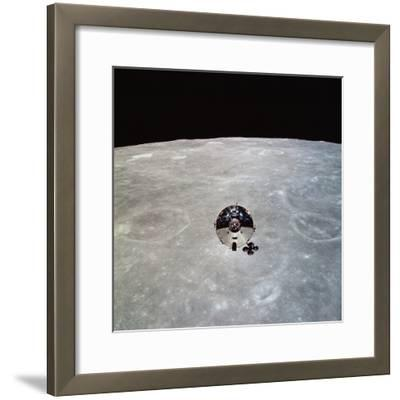 The Apollo 10 Command And Service Modules in Lunar Orbit-Stocktrek Images-Framed Photographic Print