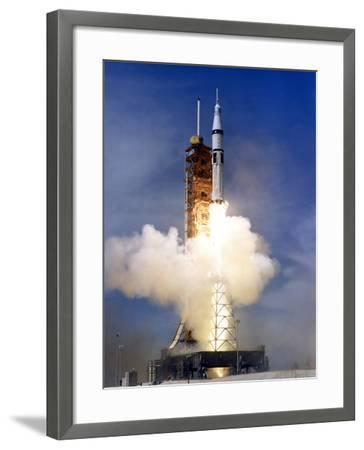 Liftoff of the Saturn IB Launch Vehicle-Stocktrek Images-Framed Photographic Print