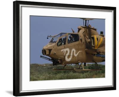 An AH-1S Tzefa Attack Helicopter of the Israeli Air Force-Stocktrek Images-Framed Photographic Print