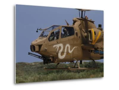An AH-1S Tzefa Attack Helicopter of the Israeli Air Force-Stocktrek Images-Metal Print