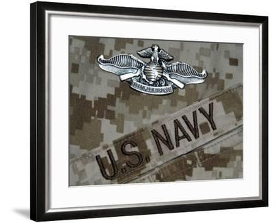 The Fleet Marine Force Warfare Specialist Pin-Stocktrek Images-Framed Photographic Print