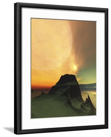 Cosmic Landscape On Another World-Stocktrek Images-Framed Photographic Print