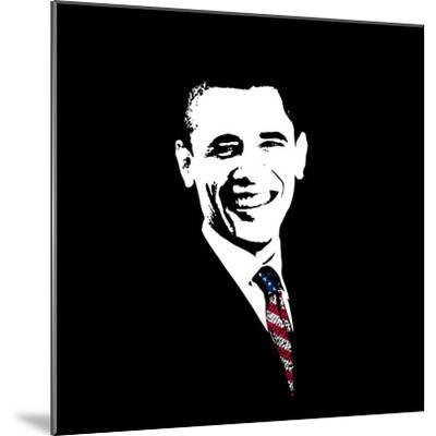 Vector Artwork of President Barack Obama Wearing a Flag Tie-Stocktrek Images-Mounted Photographic Print