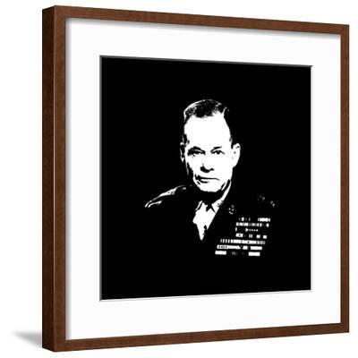 Vector Artwork of Lieutenant General Lewis Burwell Chesty Puller-Stocktrek Images-Framed Photographic Print