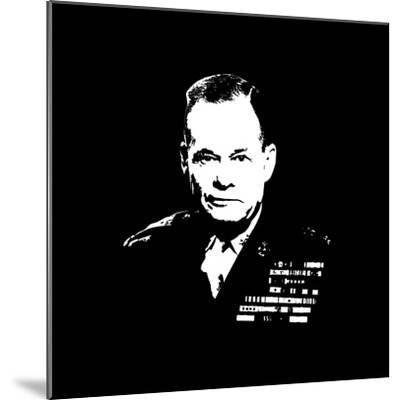 Vector Artwork of Lieutenant General Lewis Burwell Chesty Puller-Stocktrek Images-Mounted Photographic Print